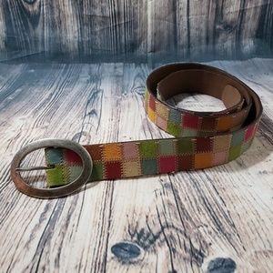 Fossil Genuine Leather Patchwork Belt Size L